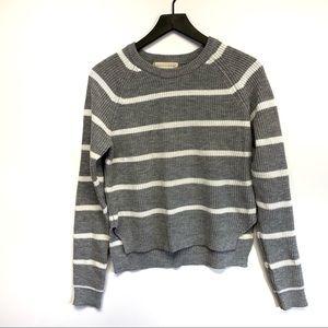 Lovestich grey stripe sweater
